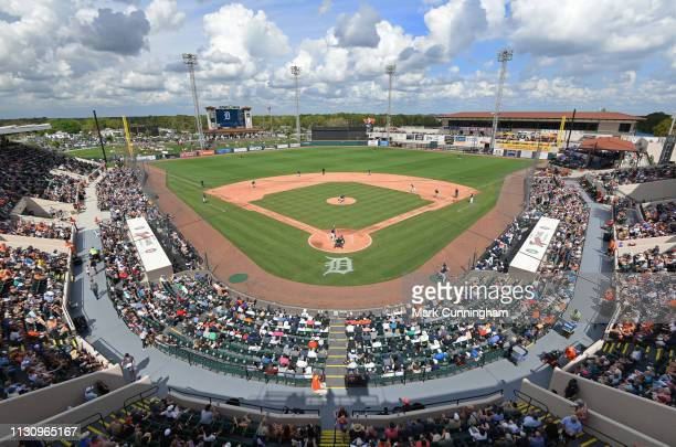 A general interior wideangle view of Publix Field at Joker Marchant Stadium during the Spring Training game between the Detroit Tigers and the New...