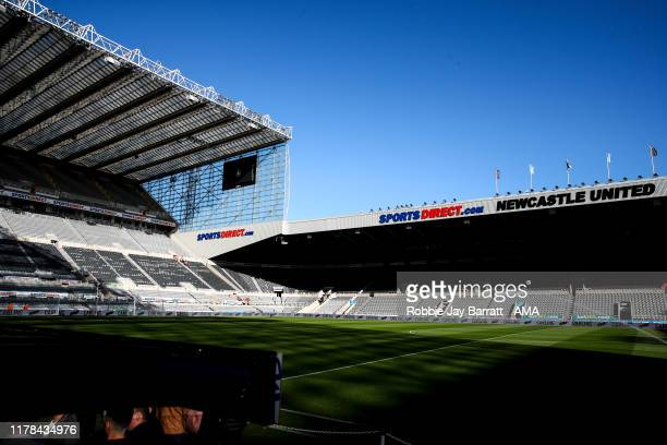 A general internal view of StJames Park home stadium of Newcastle United during the Premier League match between Newcastle United and Wolverhampton...