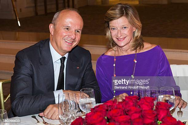 General JeanLouis Georgelin the Legion of Honor's Grand Chancellor and Madame Michel Barnier attend a charity dinner hosted by the Claude Pompidou...