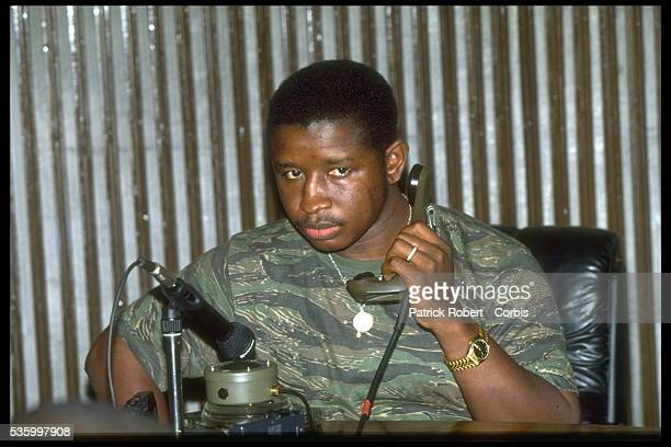 General JMaada Bio on the telephone with Foday Sankoh