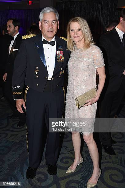 General John F Campbell and journalist Martha Raddatz attend the Yahoo News/ABC News White House Correspondents' Dinner PreParty at Washington Hilton...