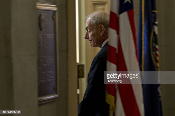 General John Kelly nominee as secretary of the Department of Homeland Security for Presidentelect Donald Trump arrives for a meeting with Senate...