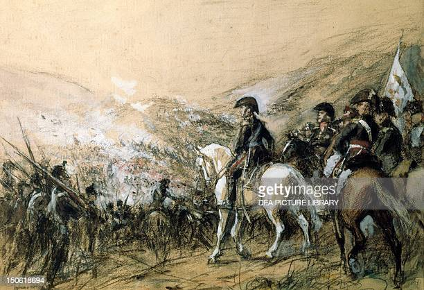 General Jose de San Martin in the battle of Chacabuco February 12 1817 Chile 19th century