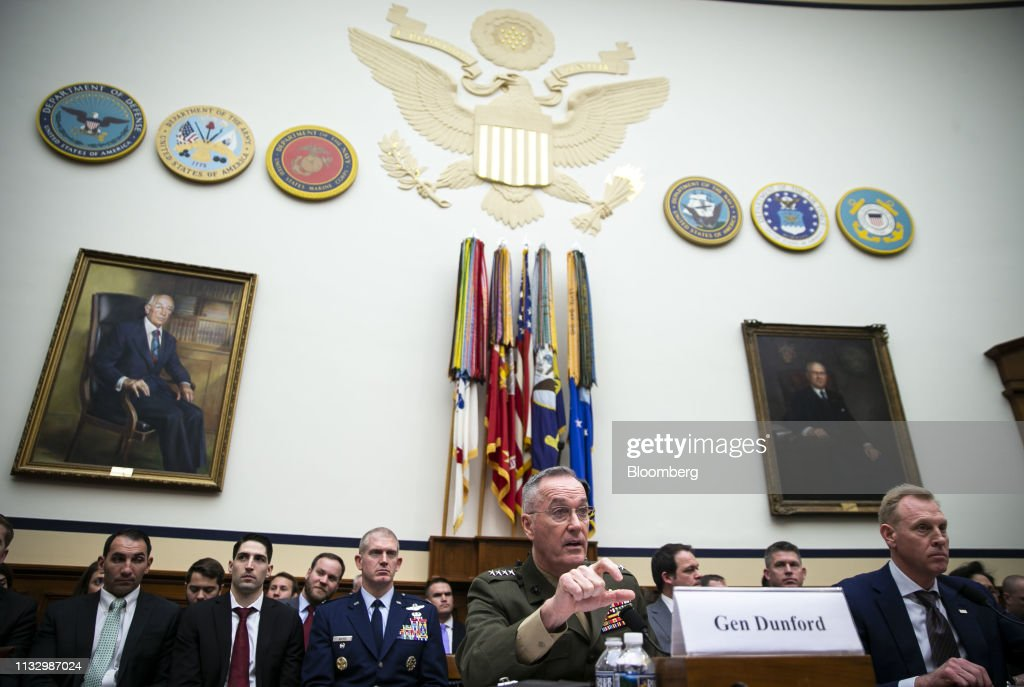 House Armed Services Committee Hearing On Fiscal Year 2020 Pentagon Budget : Nieuwsfoto's