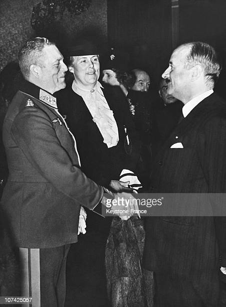 General Keitel And The French Ambassador Francois Poncet At Berlin In Germany During Thirties