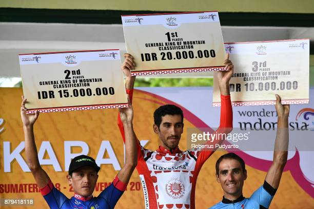 General King of Mountain Classification winners from silver medalist Peres Munos Wilmar Jahir of Team Sapura Cycling Malaysia gold medalist Khalil...