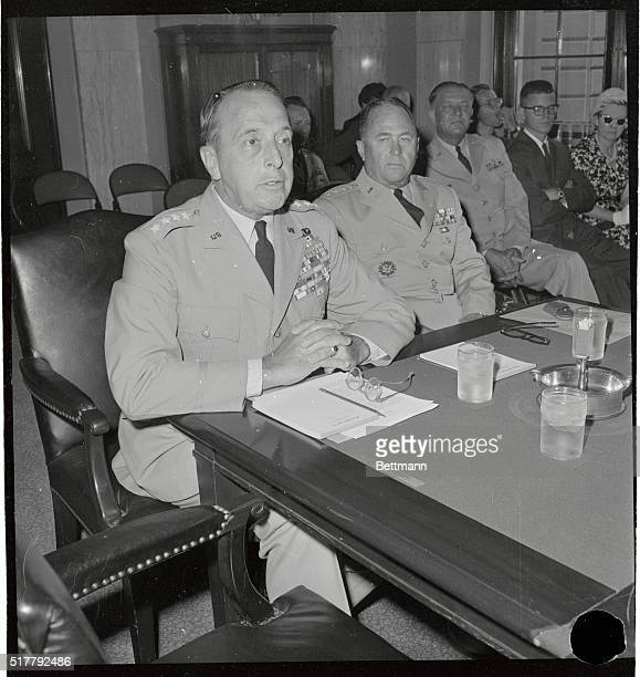 General Lyman L Lemnitzer who has been nominated to be Chairman of the Joint Chiefs of Staff and General George H Decker who has been named to...