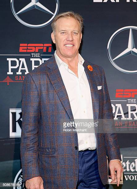 General Manager and Executive Vice President of Football Operations for the Denver Broncos John Elway attends ESPN The Party on February 5, 2016 in...