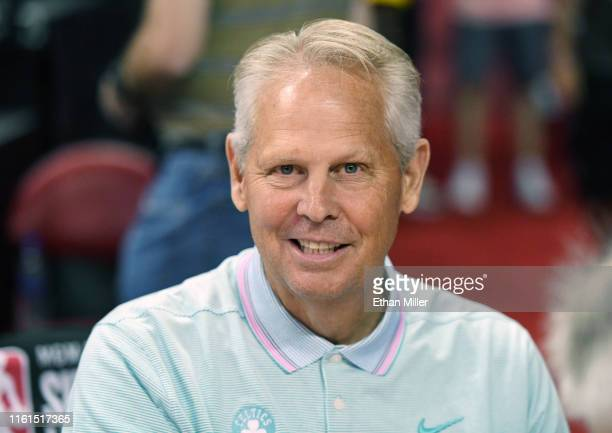 General manager and President of Basketball Operations Danny Ainge of the Boston Celtics attends a game between the Celtics and the Memphis Grizzlies...