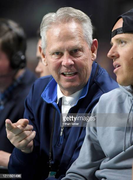 General manager and President of Basketball Operations Danny Ainge of the Boston Celtics attends a game between the Saint Mary's Gaels and the...