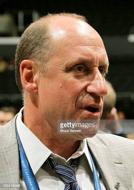General Manager Bob Gainey of the Montreal Canadiens during the 2010 NHL Entry Draft at Staples Center on June 25 2010 in Los Angeles California