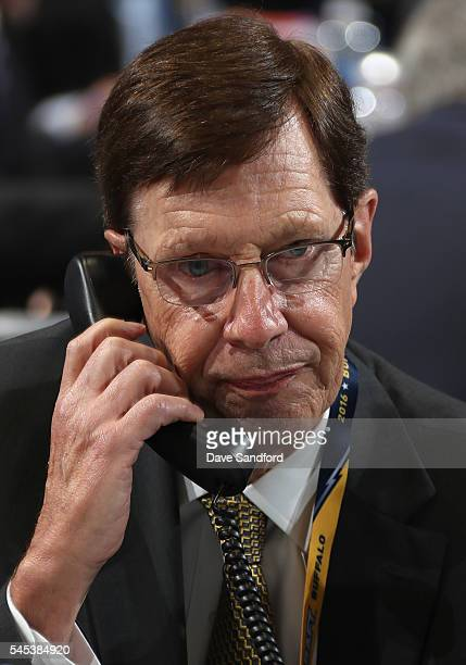 General Manager David Poile of the Nashville Predators attends the 2016 NHL Draft at First Niagara Center on June 25, 2016 in Buffalo, New York.