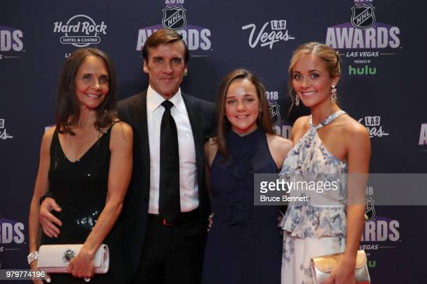 General manager George McPhee of the Vegas Golden Knights and guests arrives at the 2018 NHL Awards presented by Hulu at the Hard Rock Hotel Casino...