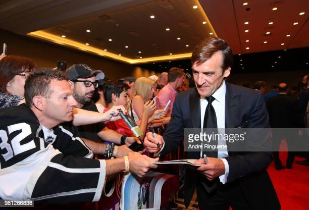 General Manager George McPhee of the Vegas Golden Knights arrives at the 2018 NHL Awards presented by Hulu at the Hard Rock Hotel Casino on June 20...