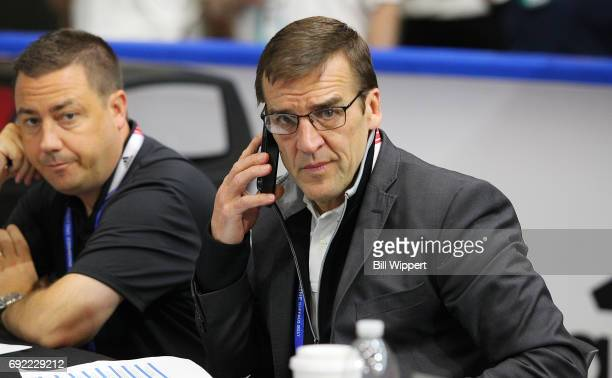 General Manager George McPhee of the Las Vegas Golden Knights attends the NHL Combine at HarborCenter on June 3 2017 in Buffalo New York
