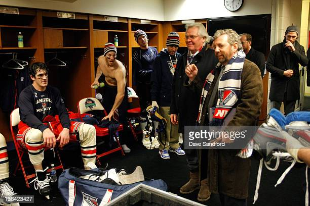General manager Glen Sather and James Dolan, President and CEO of Cablevision Systems Corporation and Executive Chairman of Madison Square Garden,...