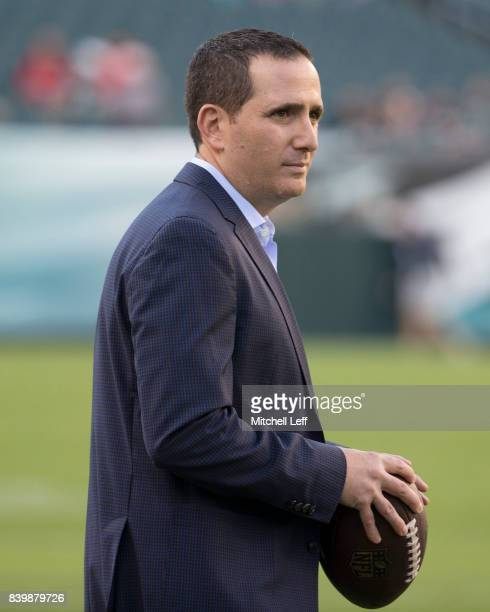 General Manager Howie Roseman of the Philadelphia Eagles looks on prior to the game against the Miami Dolphins in the preseason game at Lincoln...