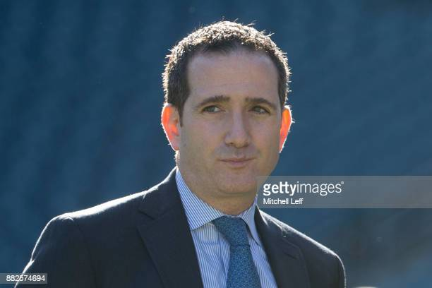 General manager Howie Roseman of the Philadelphia Eagles looks on prior to the game against the Chicago Bears at Lincoln Financial Field on November...