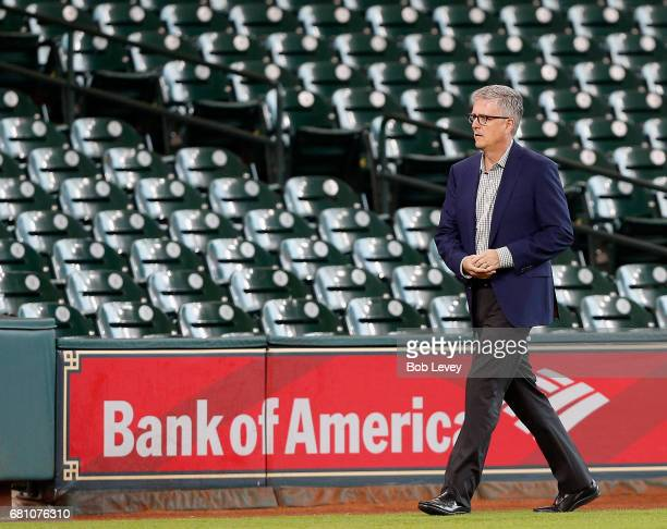 General manager Jeff Luhnow of the Houston Astros at Minute Maid Park on May 9 2017 in Houston Texas
