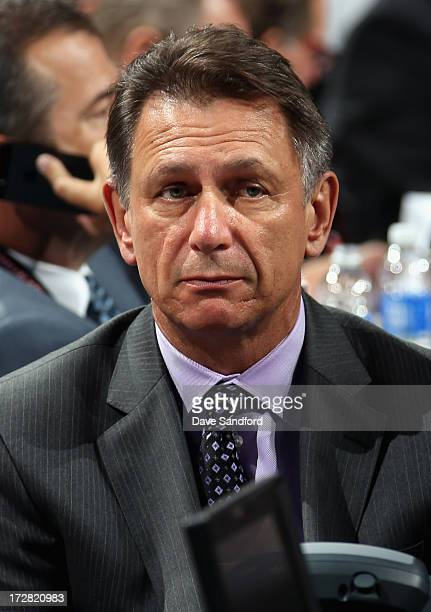 General manager Ken Holland of the Detroit Red Wings attends the 2013 NHL Draft at Prudential Center on June 30 2013 in Newark New Jersey