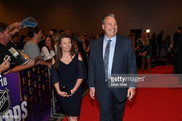 General manager Kevin Cheveldayoff of the Winnipeg Jets arrives at the 2018 NHL Awards presented by Hulu at the Hard Rock Hotel Casino on June 20...