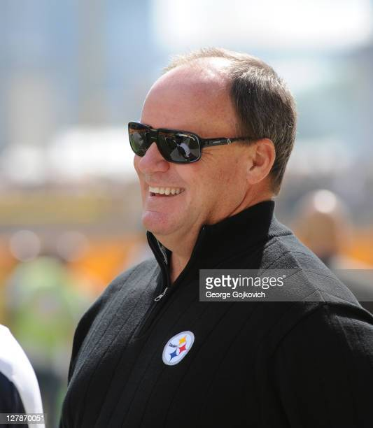 General Manager Kevin Colbert of the Pittsburgh Steelers looks on from the sideline before a game against the Seattle Seahawks at Heinz Field on...