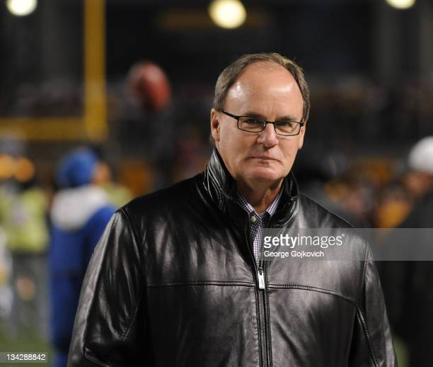 General Manager Kevin Colbert of the Pittsburgh Steelers looks on from the sideline before a game against the Baltimore Ravens at Heinz Field on...
