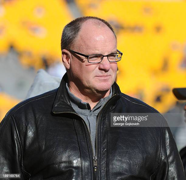 General Manager Kevin Colbert of the Pittsburgh Steelers looks on from the sideline before a game against the Cincinnati Bengals at Heinz Field on...