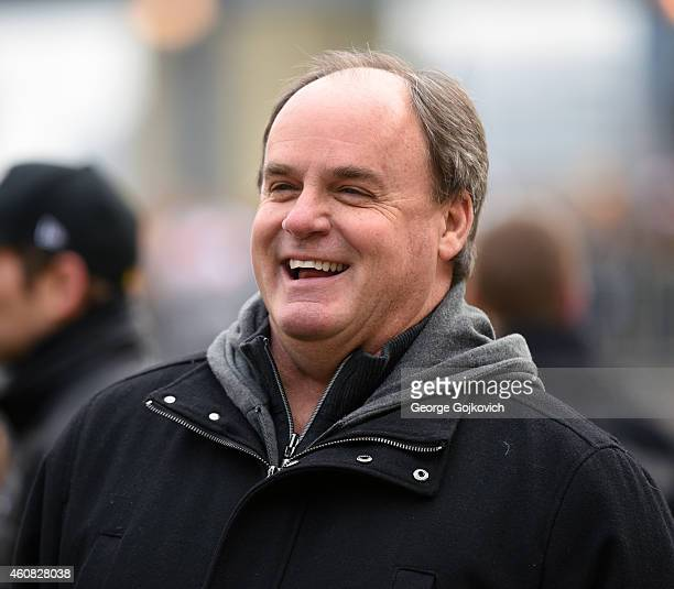 General Manager Kevin Colbert of the Pittsburgh Steelers looks on from the sideline before a game against the Kansas City Chiefs at Heinz Field on...