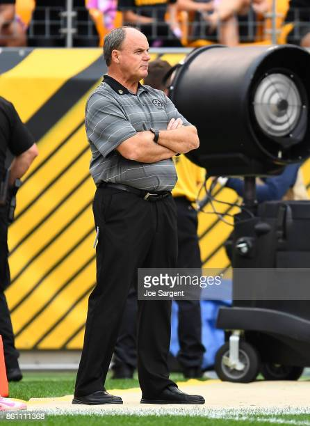 General manager Kevin Colbert of the Pittsburgh Steelers looks on during the game against the Jacksonville Jaguars at Heinz Field on October 8 2017...