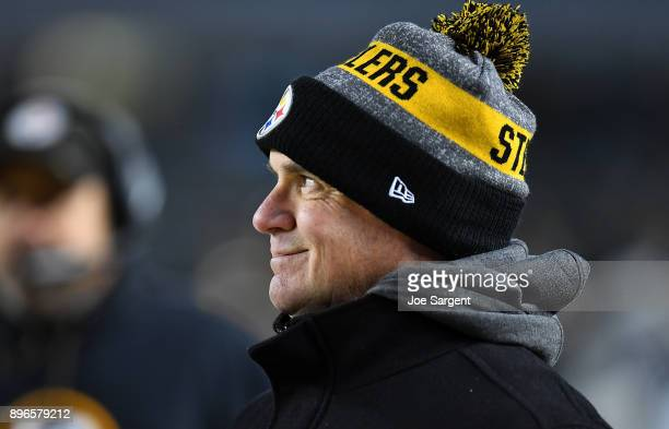 General manager Kevin Colbert of the Pittsburgh Steelers looks on against the Baltimore Ravens at Heinz Field on December 10 2017 in Pittsburgh...