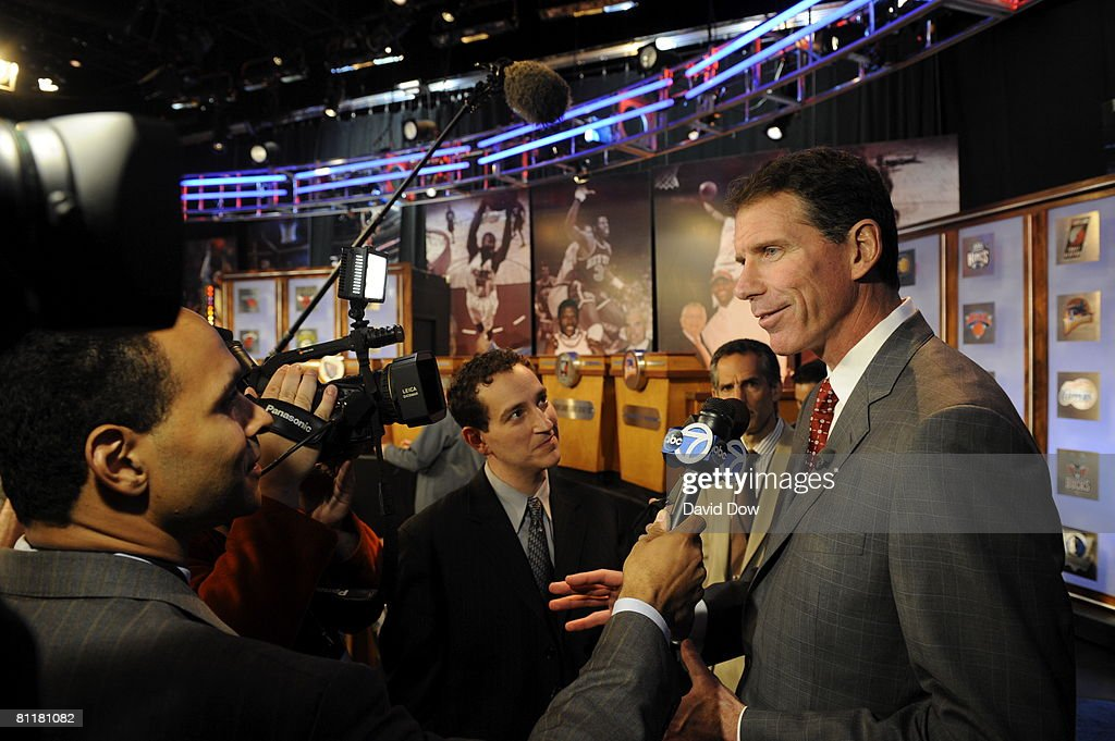 General Manager Kiki Vandeweghe of the New Jersey Nets is interviewed after the 2008 NBA Draft Lottery at the NBATV Studios on May 20, 2008 in Secaucus, New Jersey.