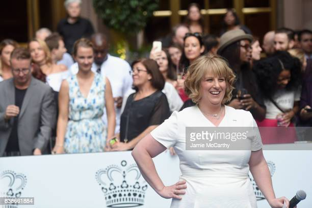 General Manager Lotte New York Palace Becky Hubbard speaks to guests during the 2017 Lotte New York Palace Invitational at Lotte New York Palace on...