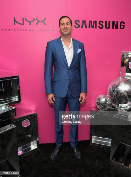 NYX General Manager Michel Fahmy at the NYX Professional Makeup and Samsung VR Launch Party at Beauty Essex on December 14 2017 in Los Angeles...