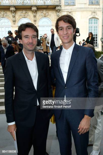 General manager of Berluti Antoine Arnault and his brother CEO of Rimowa Alexandre Arnault attend the Christian Dior show as part of the Paris...
