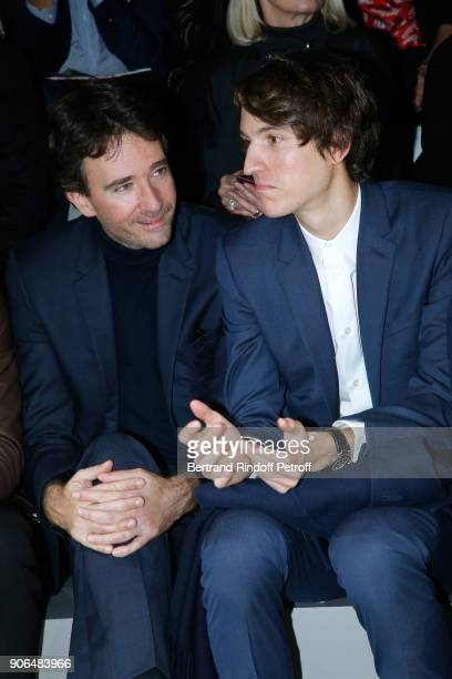 General manager of Berluti Antoine Arnault and his brother CEO of Rimowa Alexandre Arnault attend the Louis Vuitton Menswear Fall/Winter 20182019...