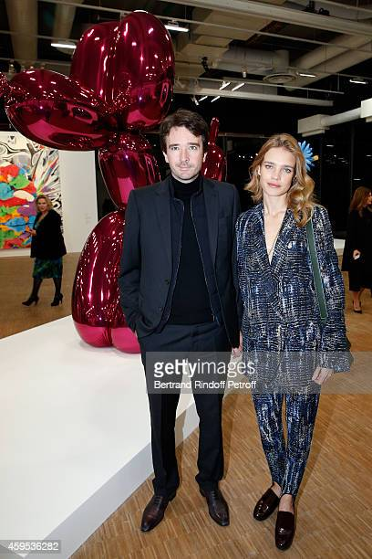 General manager of Berluti Antoine Arnault and Model Natalia Vodianova attend the 'Jeff Koons' Retrospective Exhibition Opening Evening at Beaubourg...