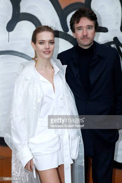 General manager of Berluti Antoine Arnault and Natalia Vodianova attend the Louis Vuitton Menswear Fall/Winter 2019-2020 show as part of Paris...