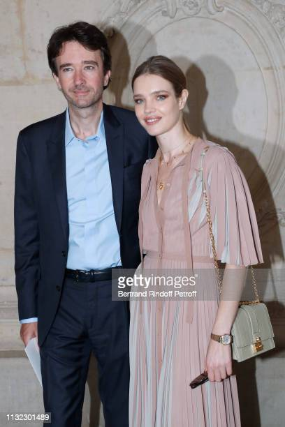General manager of Berluti Antoine Arnault and Natalia Vodianova attends the Christian Dior show as part of the Paris Fashion Week Womenswear...