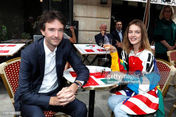 General manager of Berluti Antoine Arnault and Natalia Vodianova attend the Louis Vuitton Menswear Spring Summer 2020 show as part of Paris Fashion...