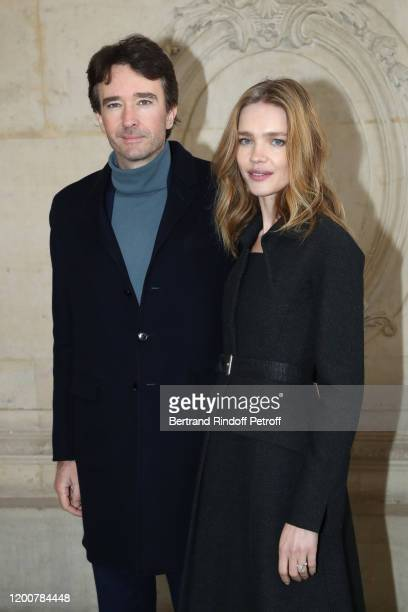 General manager of Berluti Antoine Arnault and Natalia Vodianova attend the Dior Haute Couture Spring/Summer 2020 show as part of Paris Fashion Week...