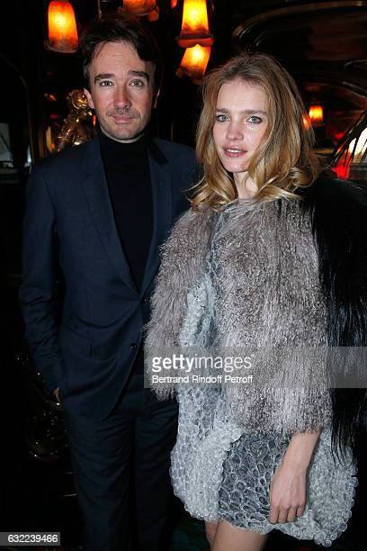 General manager of Berluti Antoine Arnault and Natalia Vodianova attend the Berluti Dinner as part of Paris Fashion Week Menswear F/W 20172018 Held...