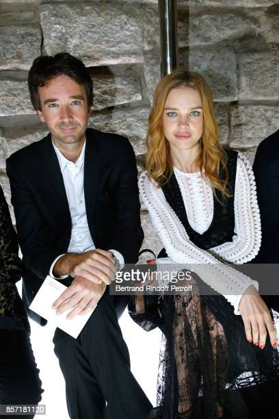 General manager of Berluti Antoine Arnault and Natalia Vodianova attend the Louis Vuitton show as part of the Paris Fashion Week Womenswear...