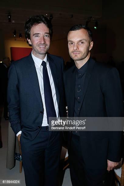 General manager of Berluti Antoine Arnault and Stylist Kris Van Assche attend the Icones de l'Art Moderne La Collection Chtchoukine Cocktail at...