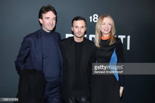 General manager of Berluti Antoine Arnault, Artistic Director of Berluti Kris Van Assche and Louis Vuitton's executive vice president Delphine...