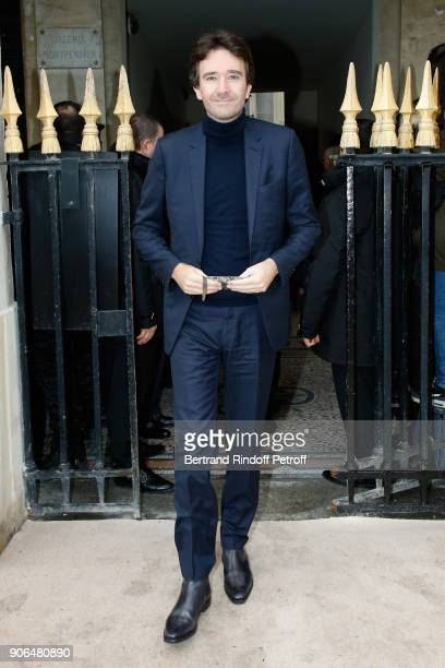 General manager of Berluti Antoine Arnault attends the Louis Vuitton Menswear Fall/Winter 20182019 show as part of Paris Fashion Week on January 18...