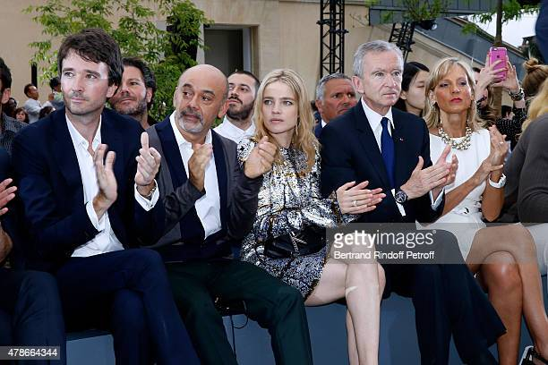 General manager of Berluti Antoine Arnault Christian Louboutin Model Natalia Vodianova Owner of LVMH Luxury Group Bernard Arnault and his wife Helene...