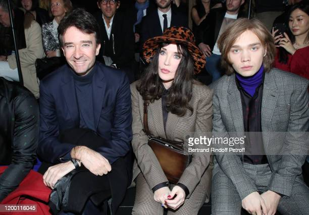General manager of Berluti Antoine Arnault Isabelle Adjani and Charlie Plummer attend the Berluti Menswear Fall/Winter 20202021 show as part of Paris...