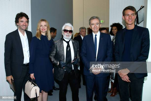 General manager of Berluti Antoine Arnault, Louis Vuitton's executive vice president Delphine Arnault, Karl Lagerfeld, Owner of LVMH Luxury Group...