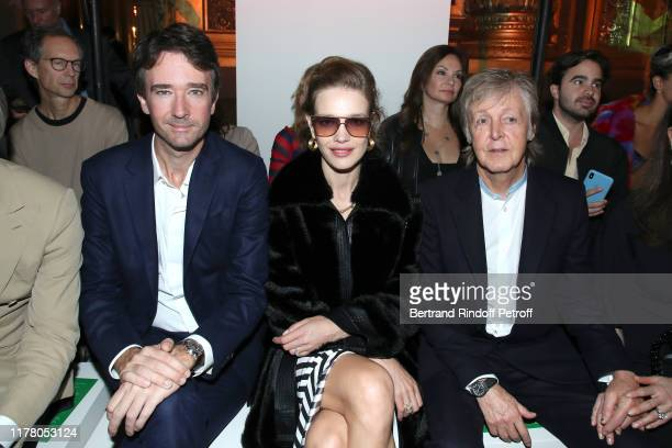 General manager of Berluti Antoine Arnault, Natalia Vodianova and Paul McCartney attend the Stella McCartney Womenswear Spring/Summer 2020 show as...